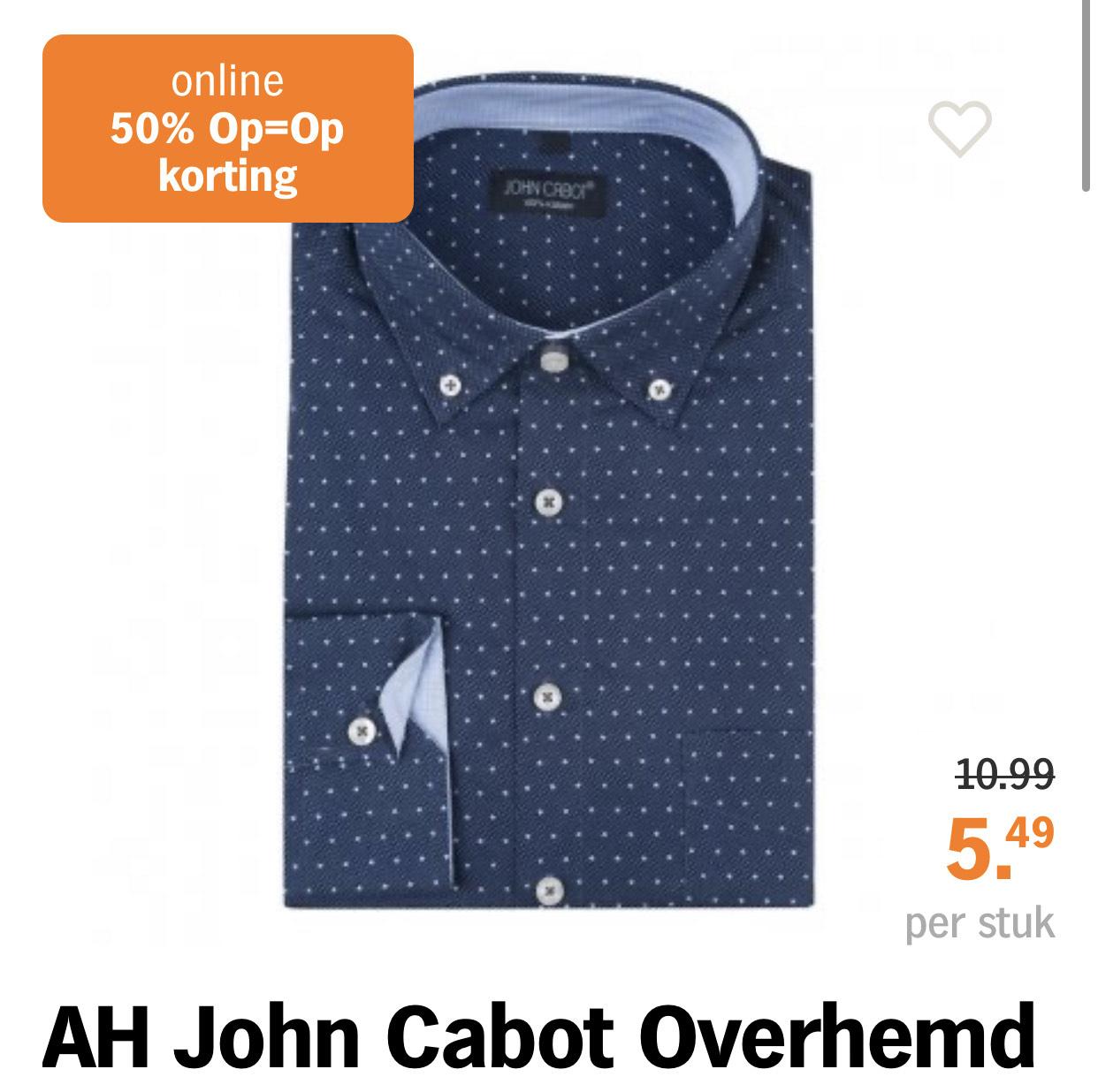 AH John Cabot Overhemd print blauw