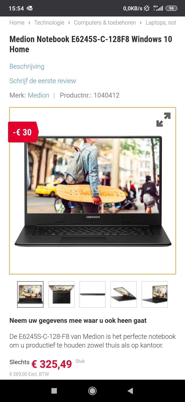 Medion Notebook E6245S-C-128F8