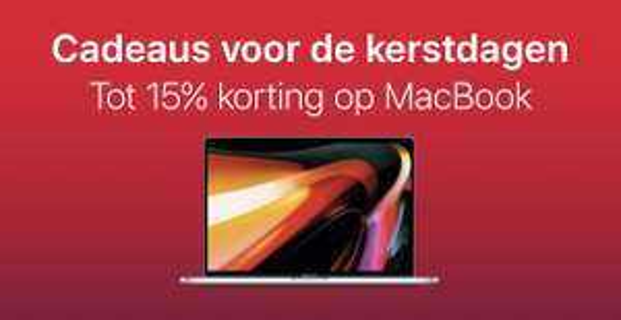 TOT 15% Korting Apple MacBook, iMac en Mac Mini bij Amac