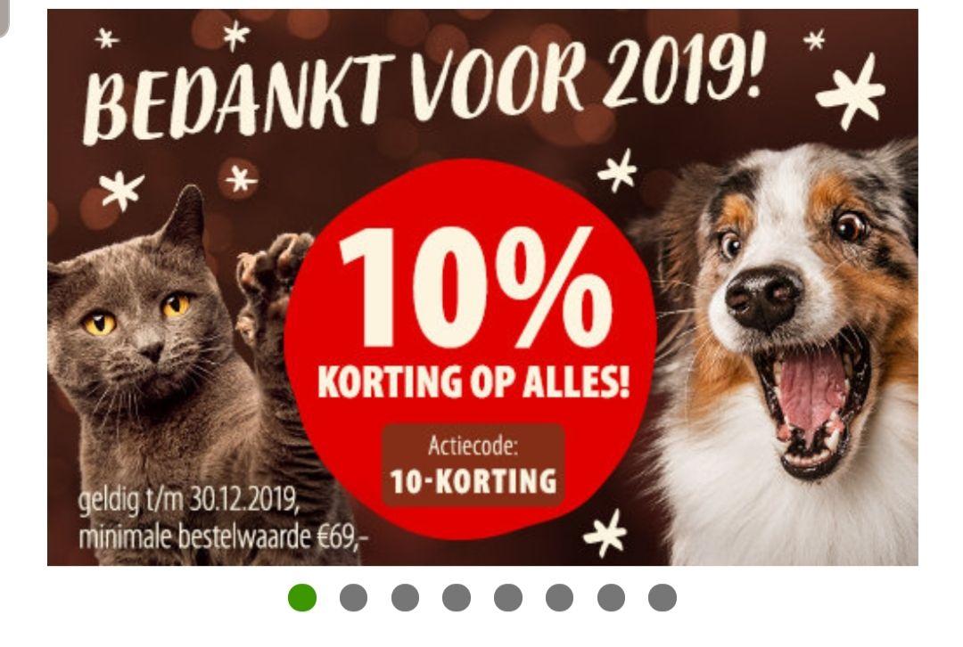 10% korting op alles bij Zooplus (vanaf € 69,-)
