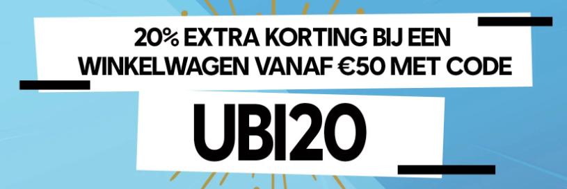 20% korting bij minimale winkelwagenwaarde van €50 (ook op sale) @ Ubisoft Store