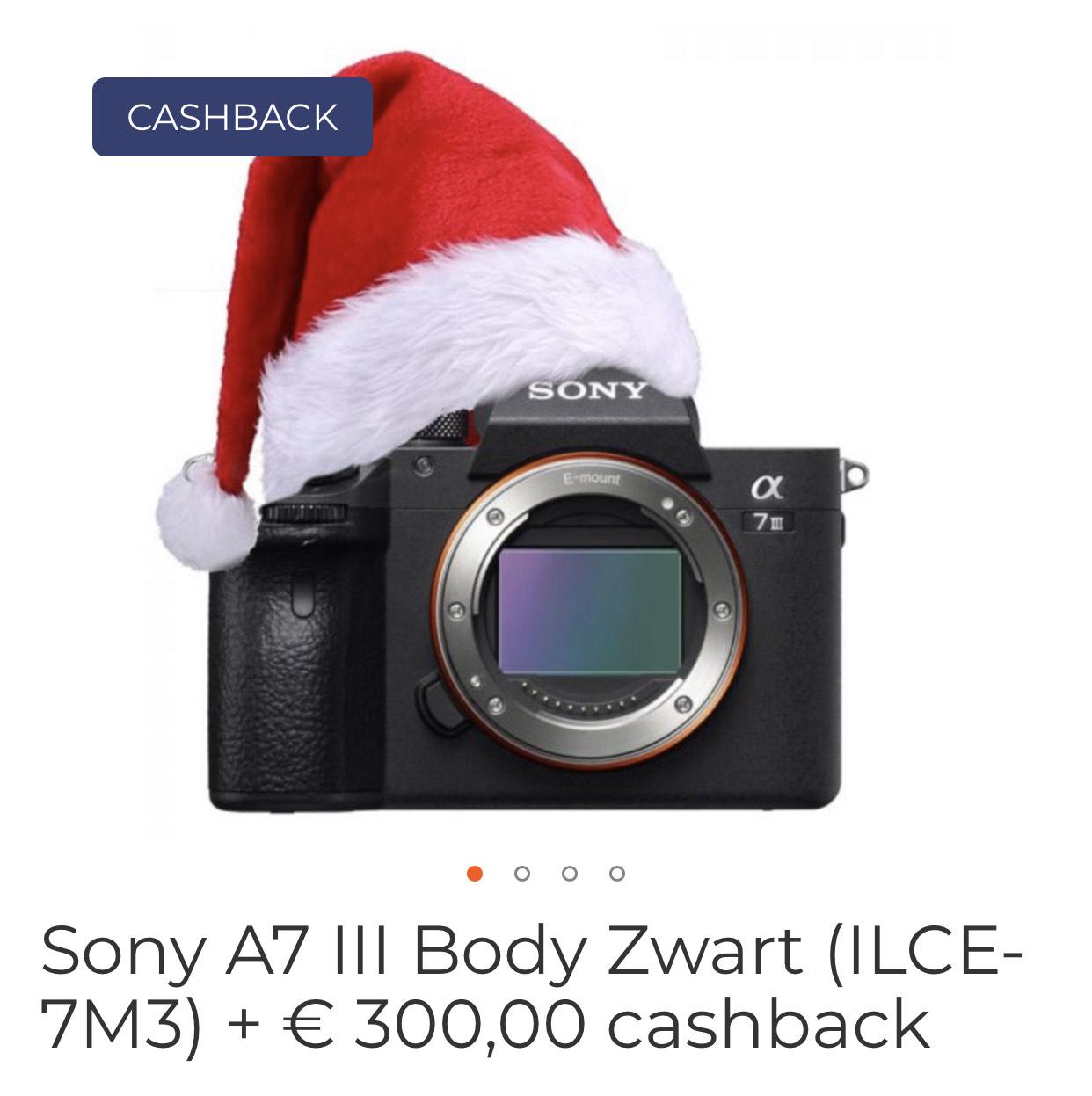 Sony A7 III body (1549€ na cashback)