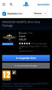 KINGDOM HEARTS All-in-One Package playstation store verlengd tot 18 januari!