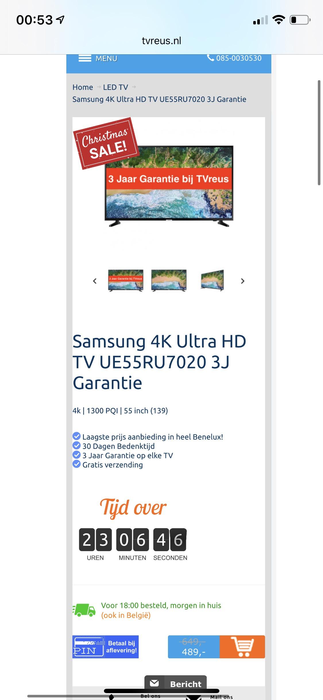 Samsung 4K Ultra HD TV 55 inch