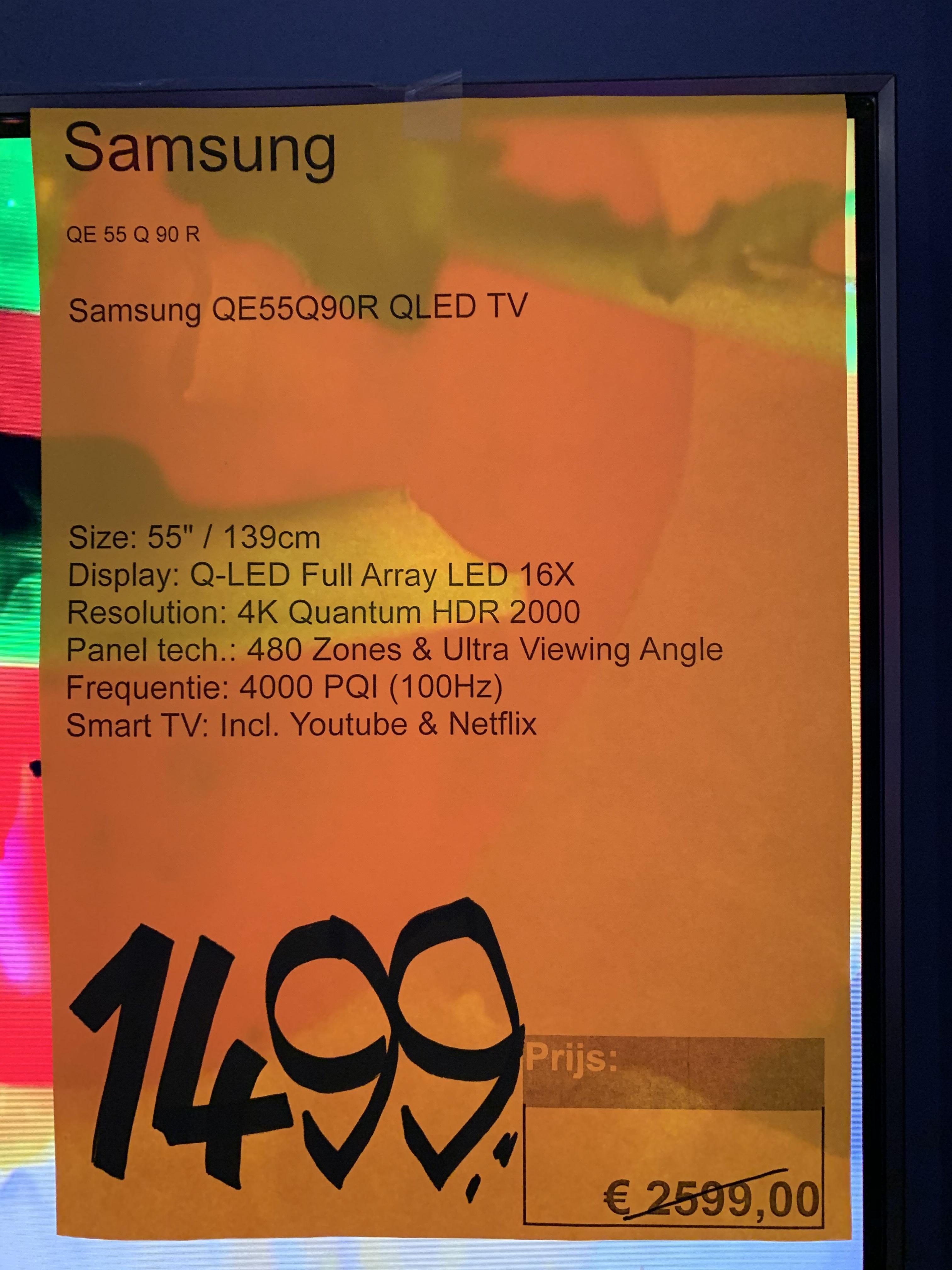 Samsung 55Q90R Televisie Electroworld +DisneyPlus