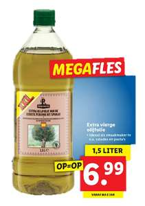 Extra Vierge Olijfolie 1,5L voor €6,99 @ Lidl Winkels