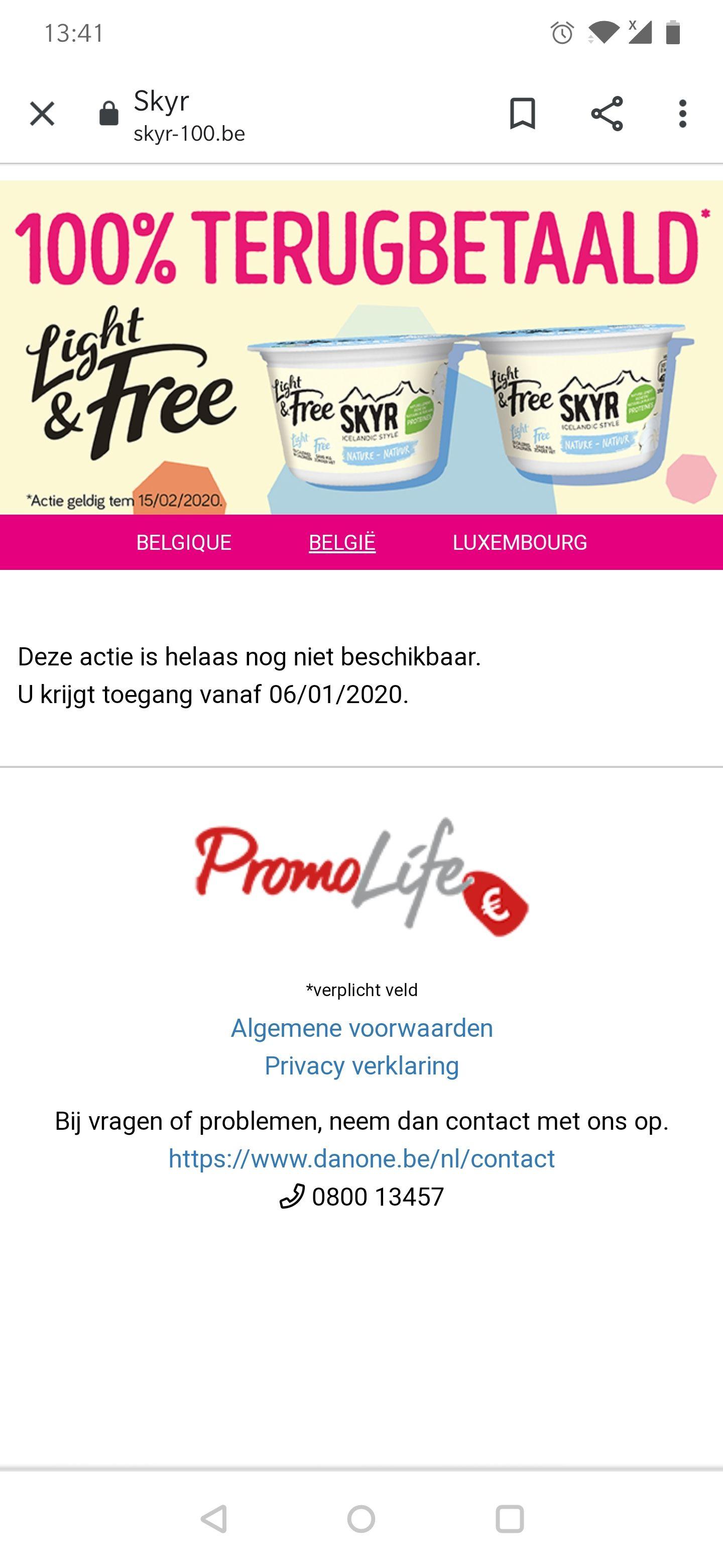 [GRENSDEAL BELGIË] 100% terugbetaald Skyr light & free