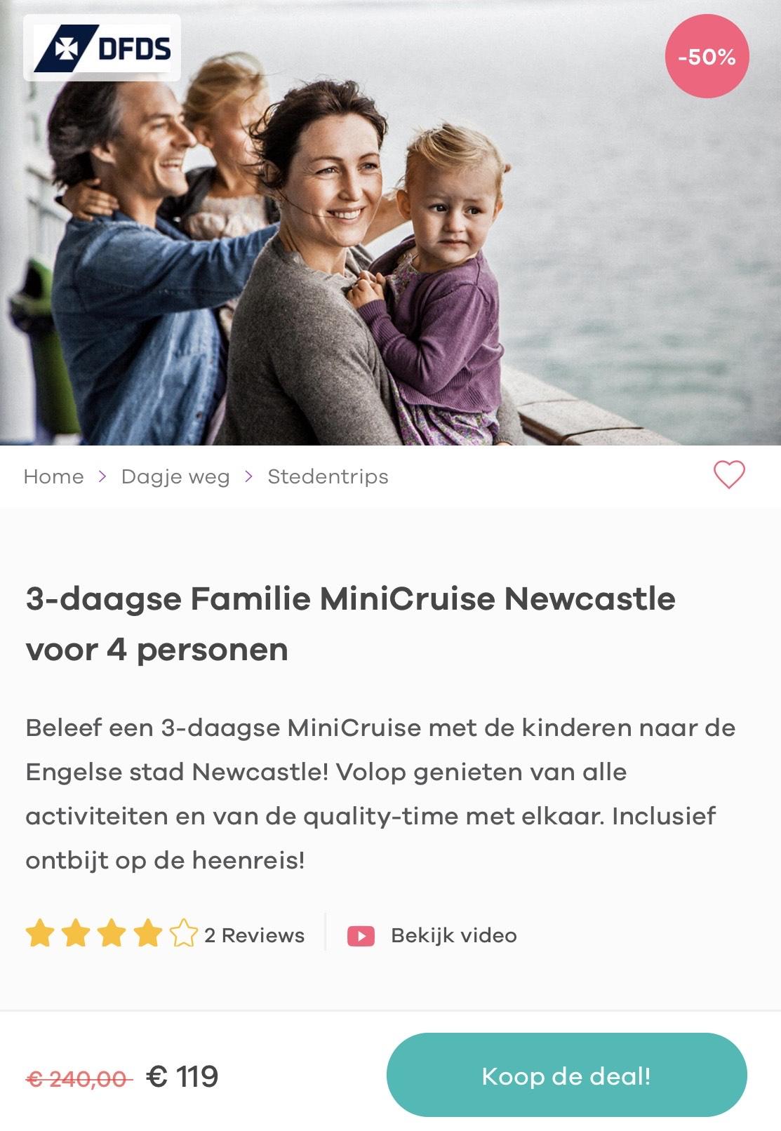 3-daagse mini-cruise naar Newcastle