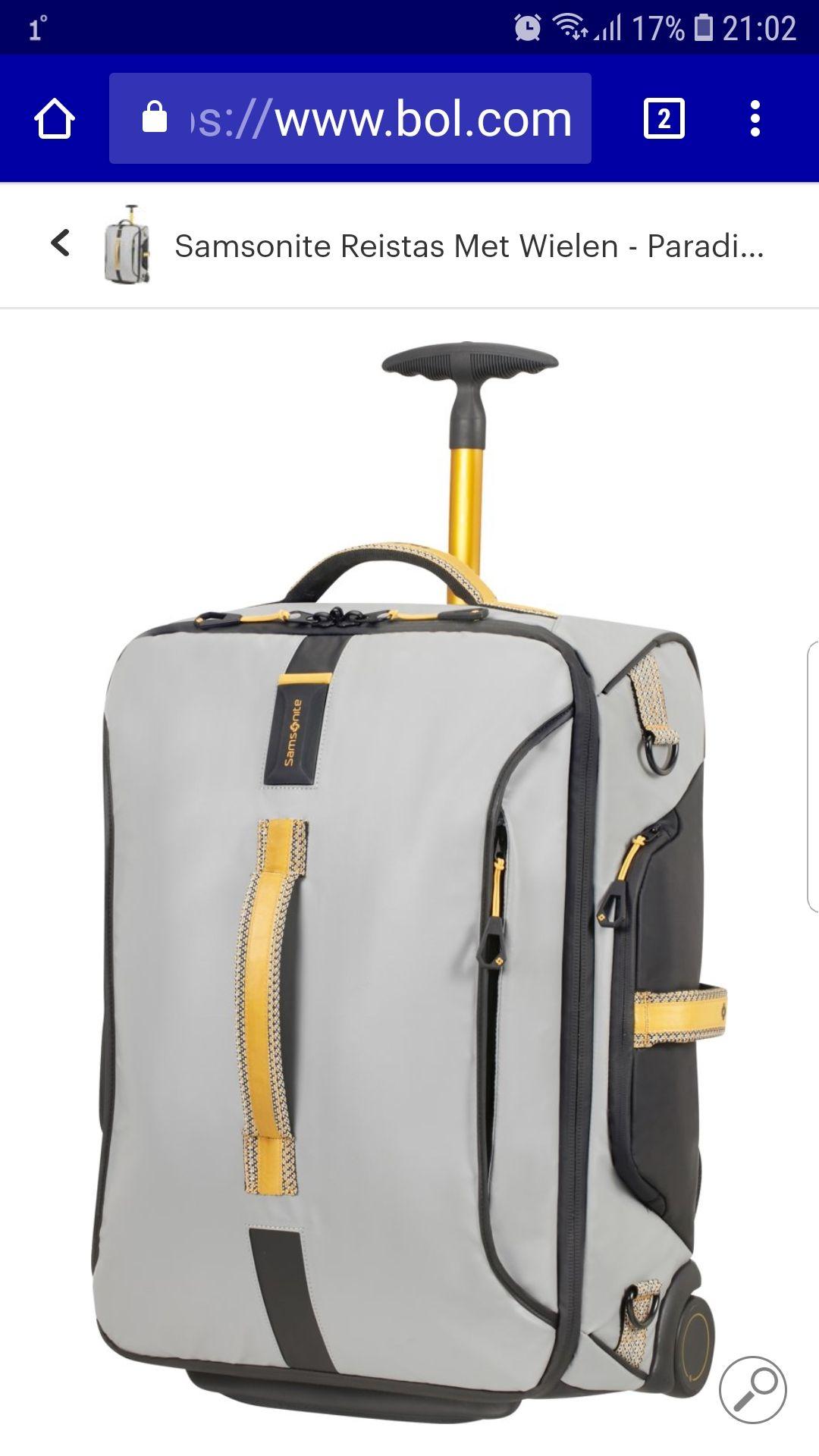 Handbagage 55x40x20 Samsonite Reistas Met Wielen - Paradiver Light