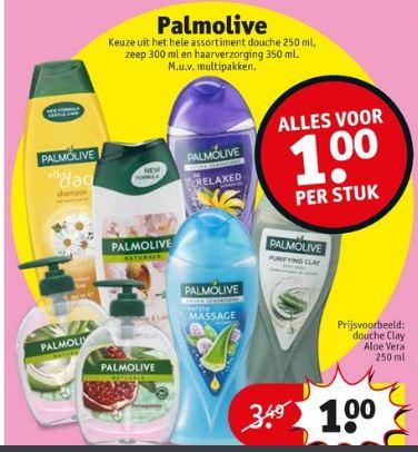 Kruidvat Palmolive handzeep douchegel haarverzorging voor 1 Euro