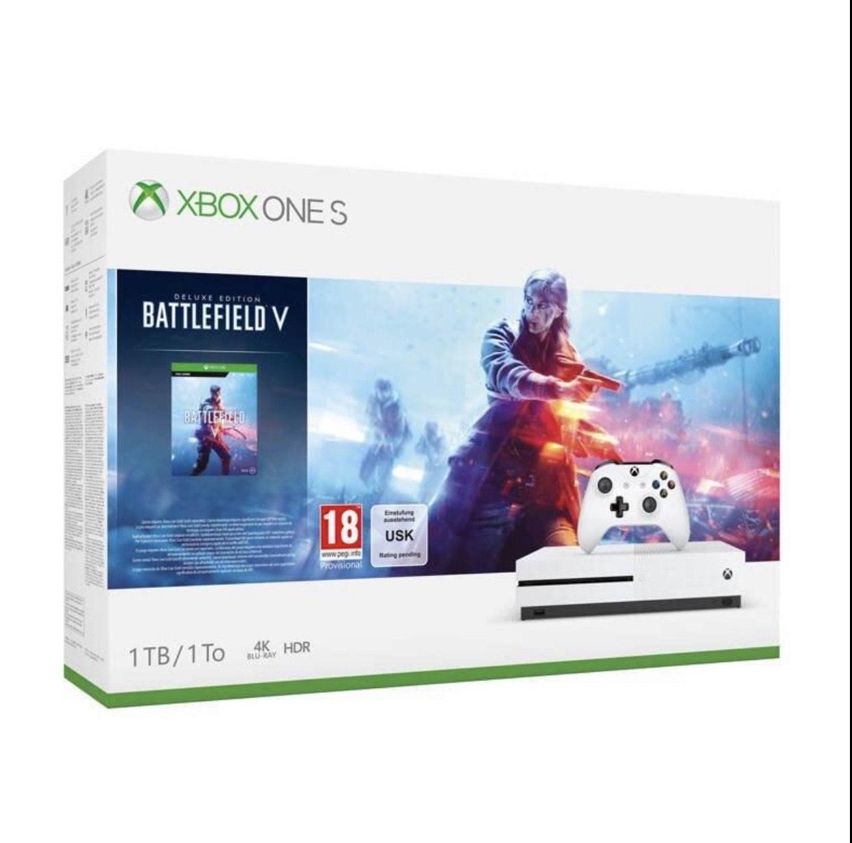 Microsoft Xbox One S 1TB console + Battlefield V bundel