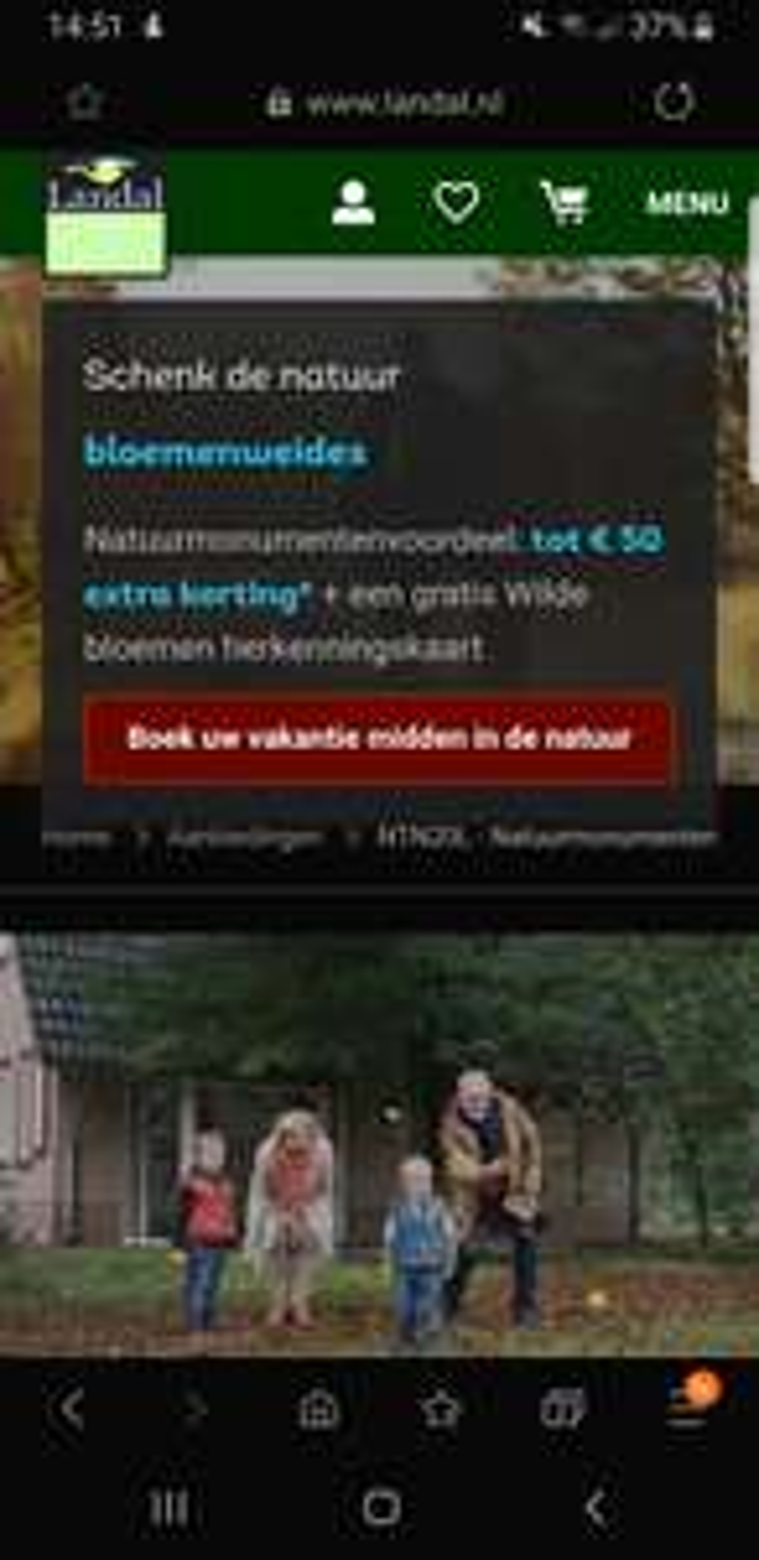 Tot 50€ extra korting Landal + gratis wilde bloemen herkenningskaart