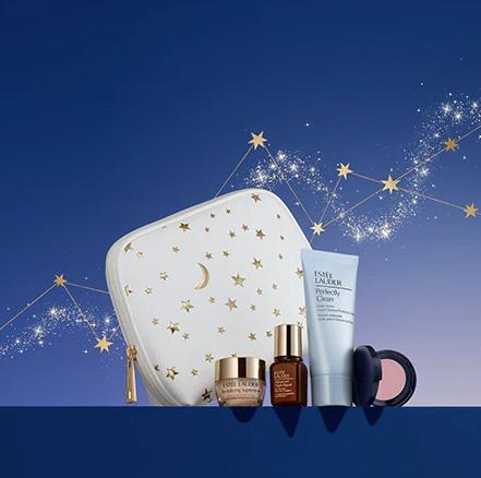 Estee Lauder make-up tasje + samples twv €45 bij aankoop van minstens €59,-