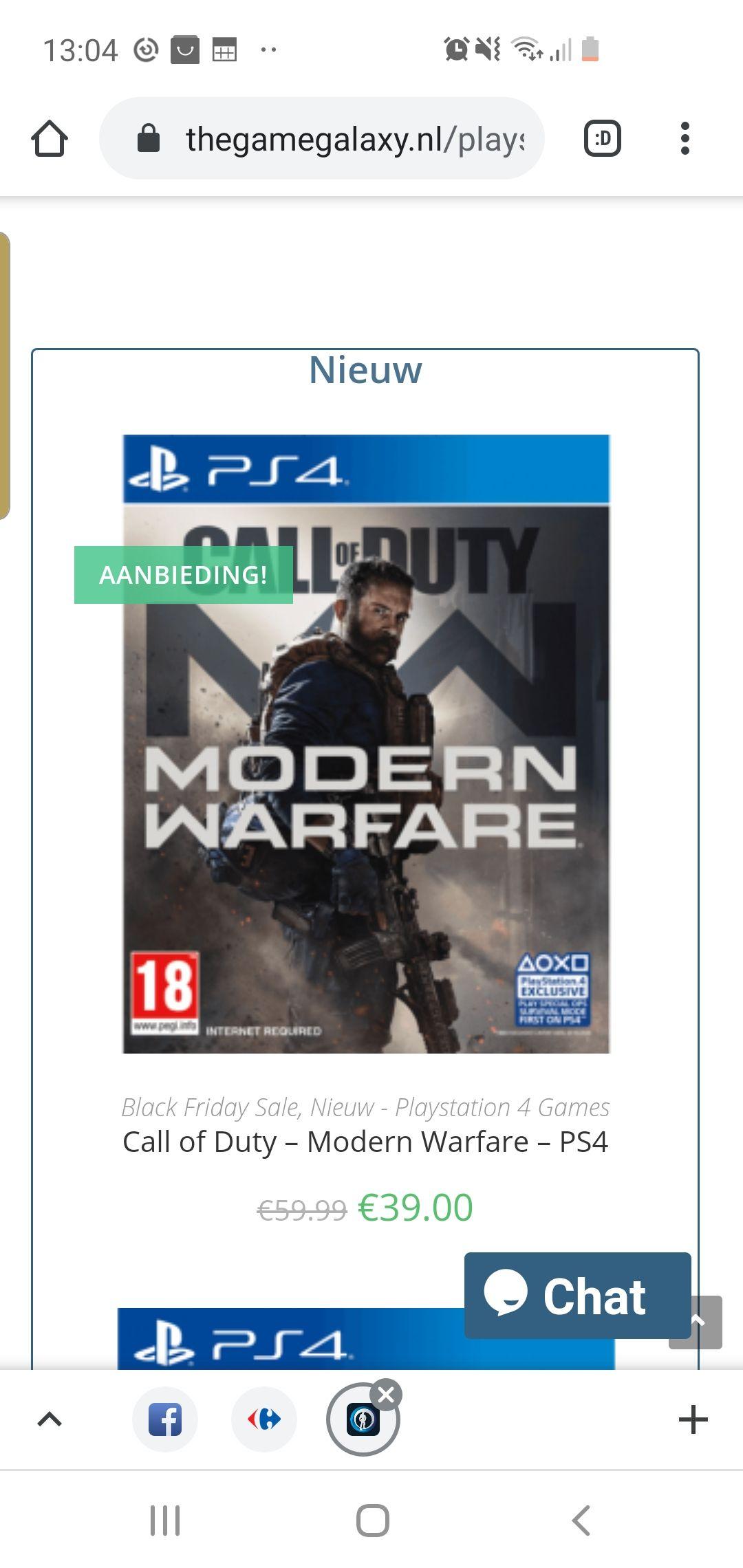 (Lokaal) Call of duty modern warfare voor de ps4 (of anders niet lokaal met verzending)