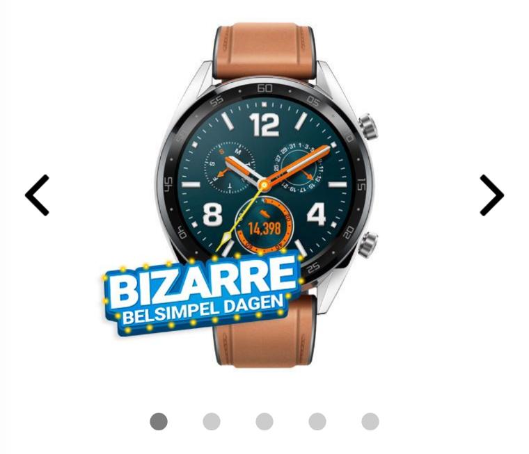 Huawei watch GT € 124,95 @ Belsimpel. Elders vanaf € 142,91