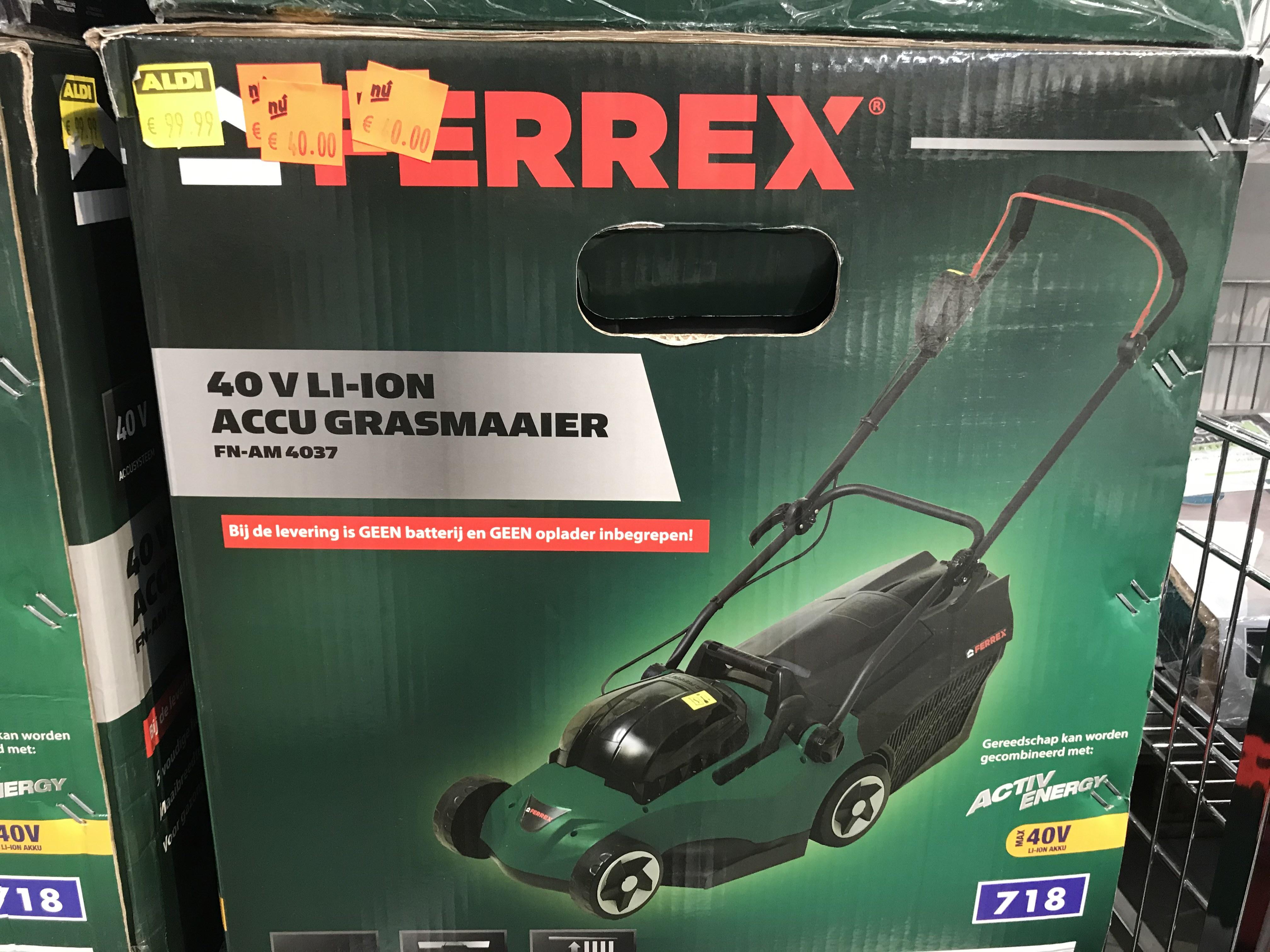 Ferrex 40V LI-ION accugrasmaaier (zonder accu)