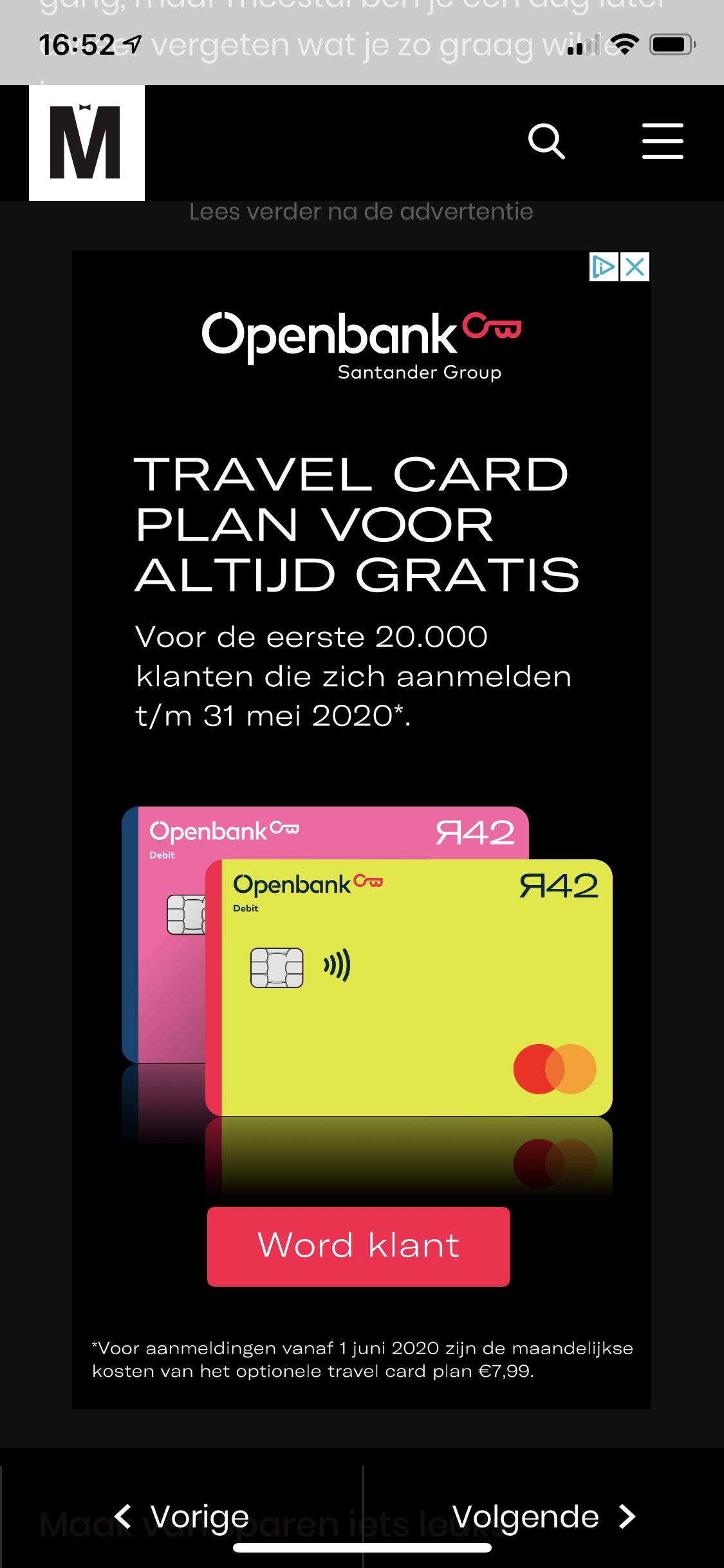 Nieuw! Travel+ nu gratis voor altijd voor eerste 20.000 klanten Openbank