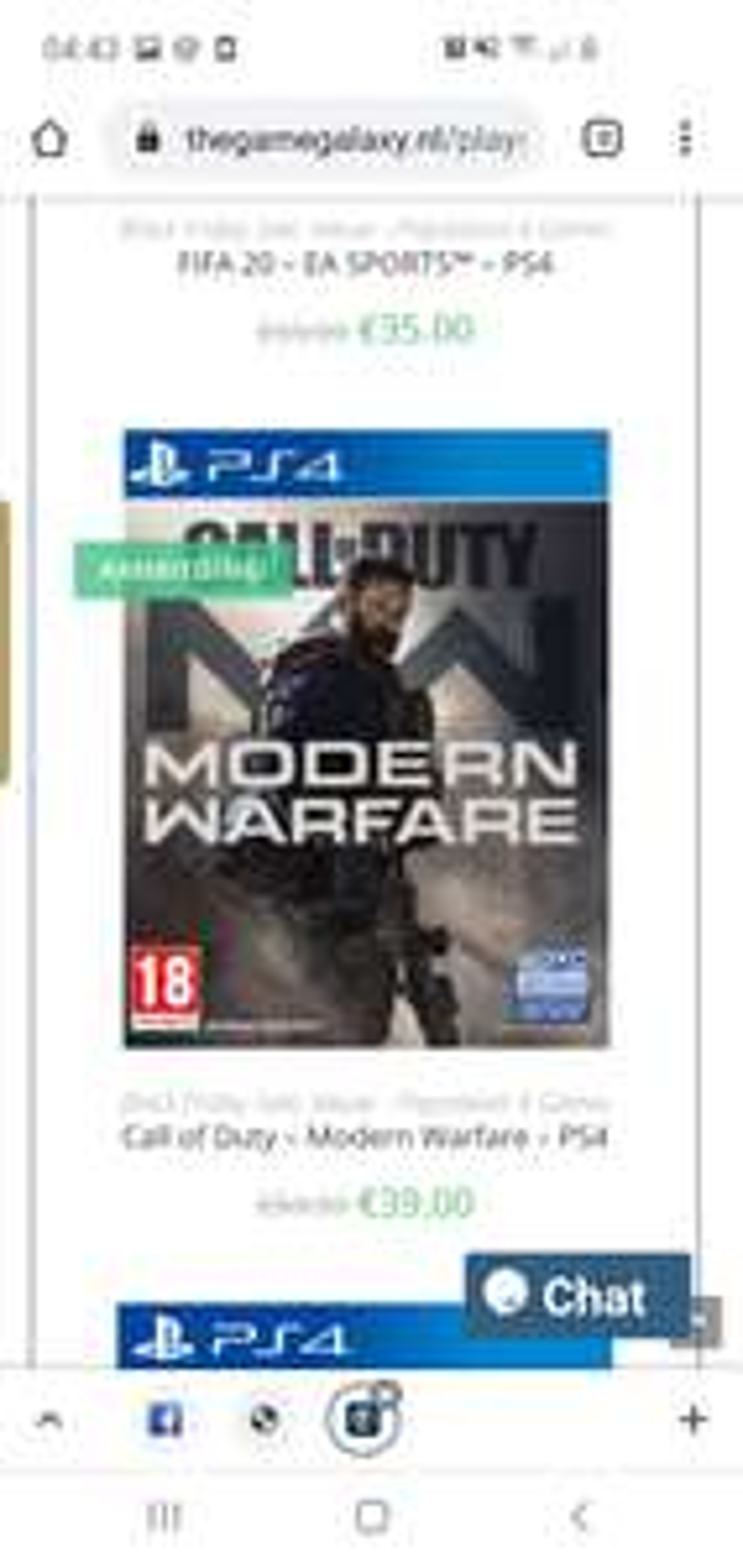 Modern warfare voor de playstation 4