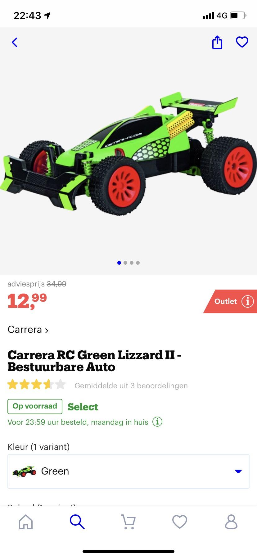 Carrera Green Lizzard Bestuurbare Auto