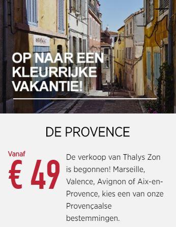 Thalys Enkele Reis Amsterdam - Marseille €49