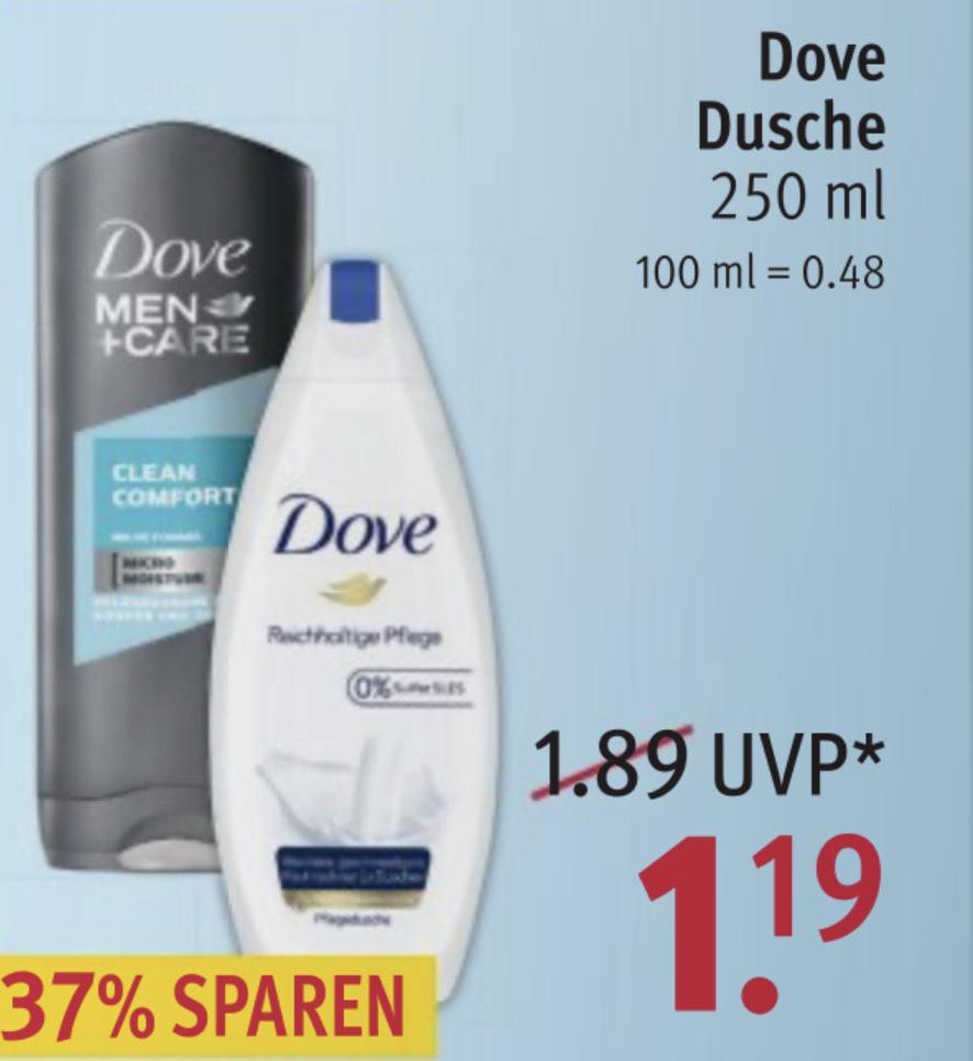 Grensdeal; Dove Douchegel €1,19 Rossmann