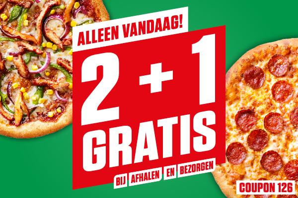 New York Pizza 3e pizza gratis met code 126