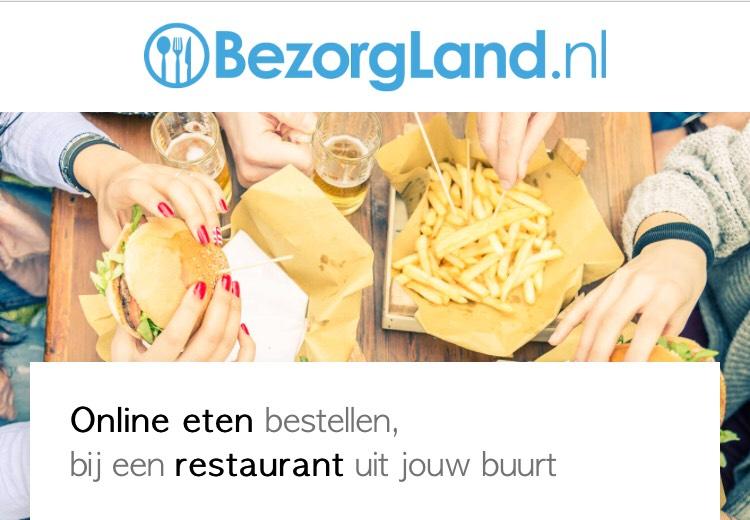 €1,- korting op je bestelling via Bezorgland.nl
