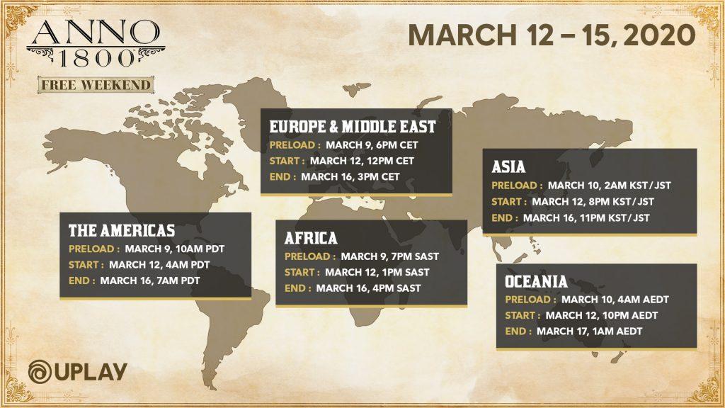 Anno 1800 Free Weekend (12 - 15 maart 2020) - PC