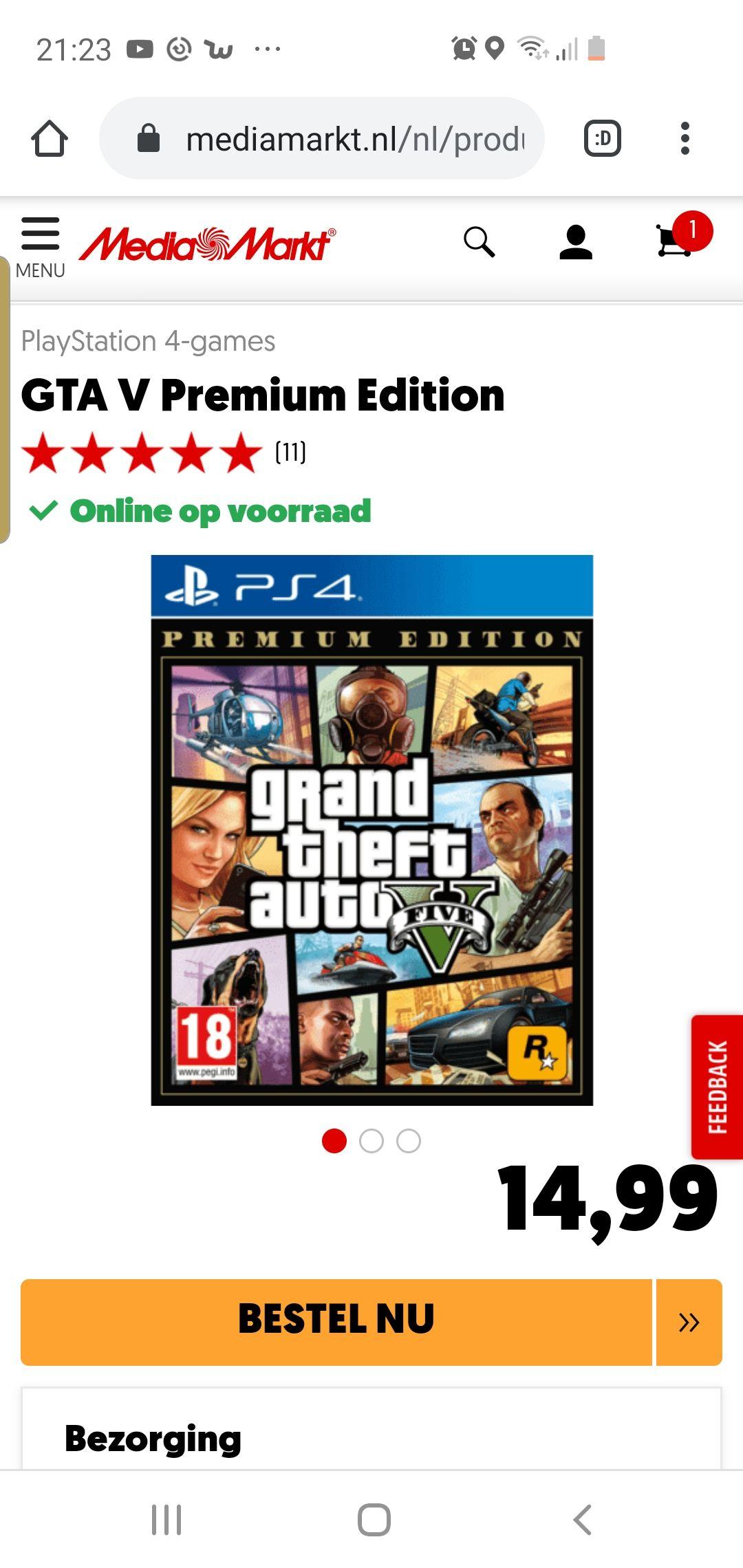 Grand Theft Auto V: Premium Edition (PS4) @ Mediamarkt