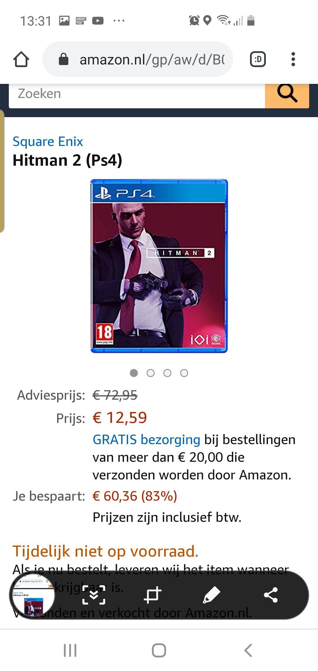 Hitman 2 playstation 4 editie @amazon.nl
