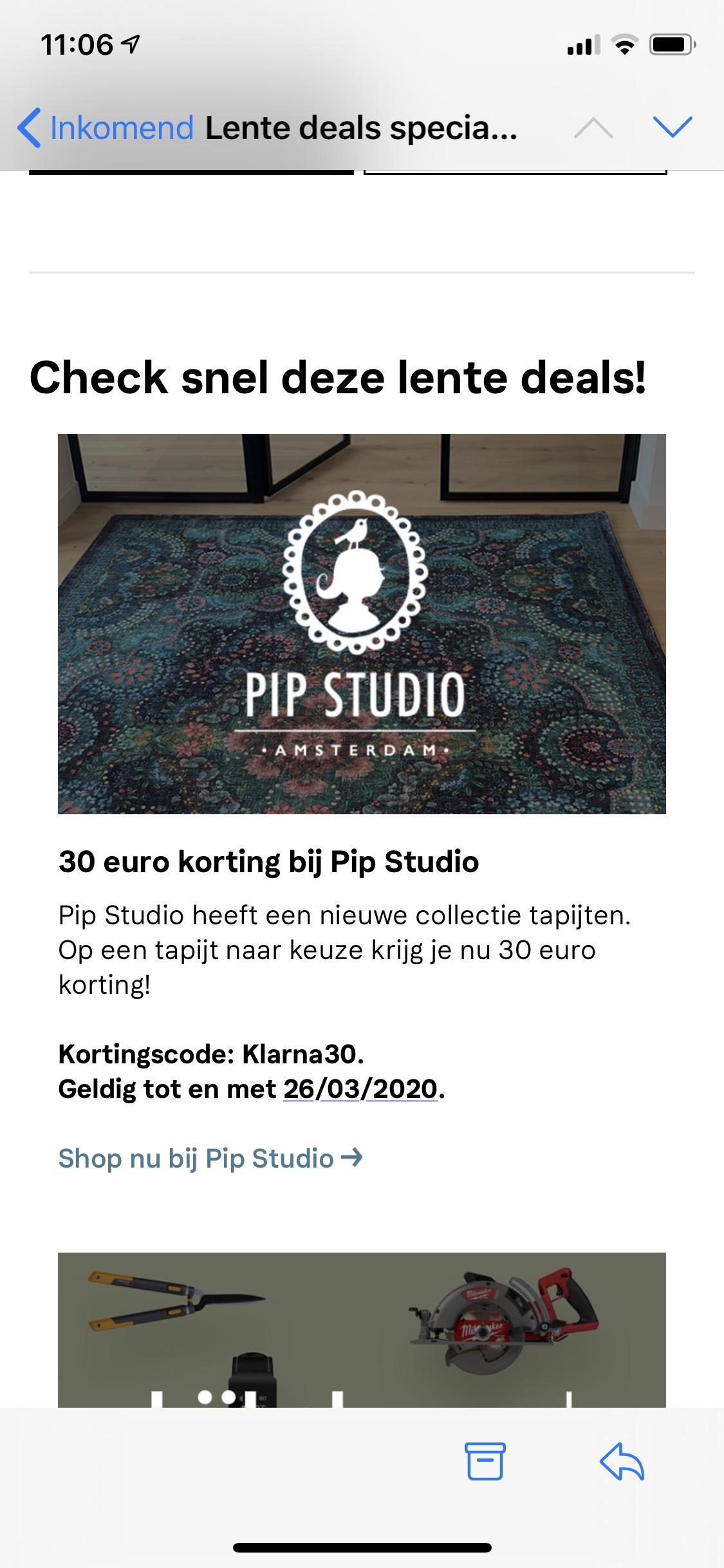 30 euro korting Pip Studio - Tapijten en vloerkleden
