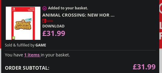 Animal Crossing Digital Code - 32 Pond