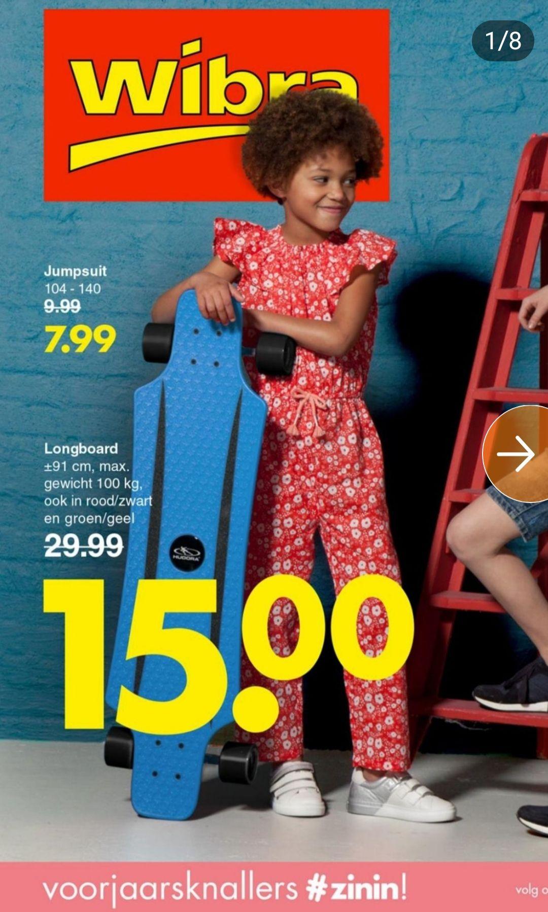 Hudora Fun Cruiser longboard voor 15 euro bij Wibra