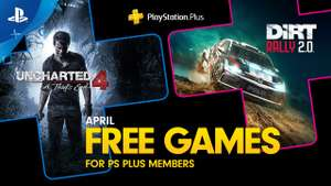 Playstation Plus games april: Uncharted 4: A Thief's End & DIRT Rally 2.0