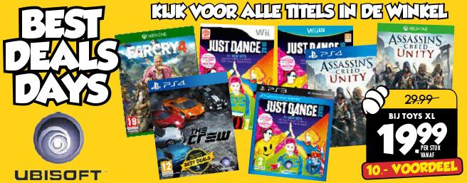 Ubisoft games voor €19,99 per stuk (o.a Far Cry 4 en The Crew) @ Toys XL