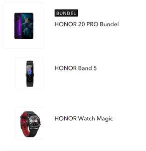Honor 20 pro + Honor Watch Magic + Honor Band 5 voor €408 @ Honor Official NL