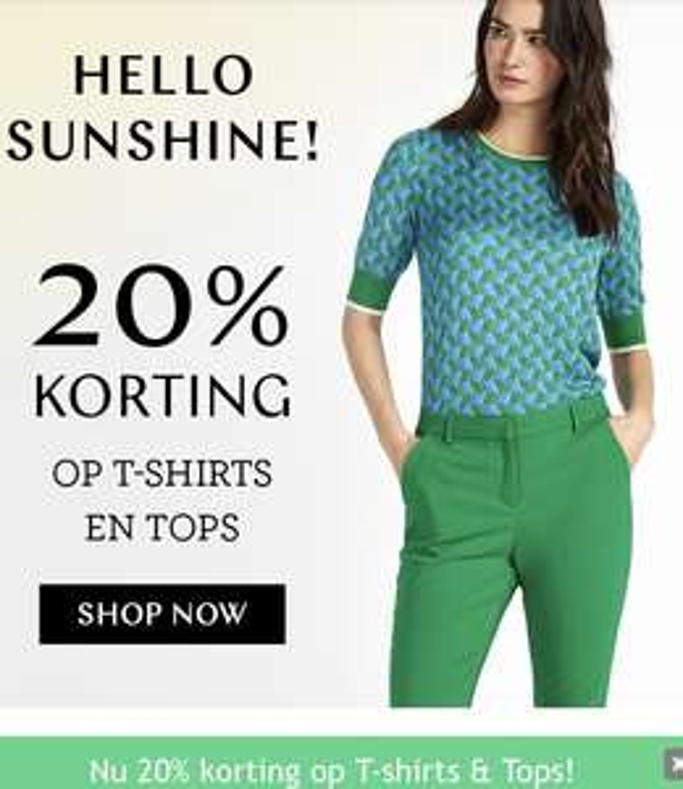 Tot 70% korting op dameskleding en 20% korting op tops en shirts (nieuwe collectie) @Steps