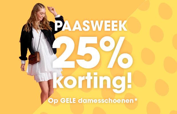 PAASWEEK: 25% korting op alle gele damesschoenen + maak kans op toffe prijzen @ziengs