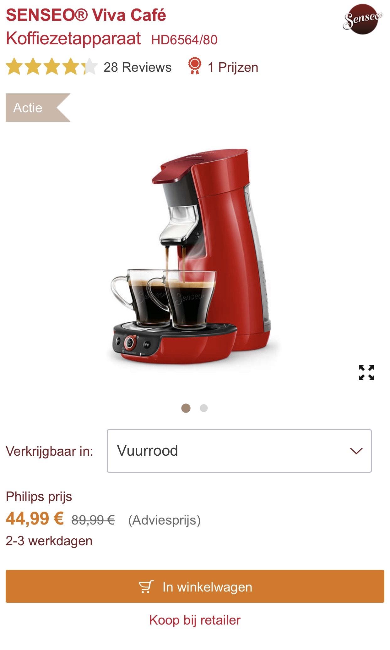 [België] Senseo Viva Café (vuurrood)