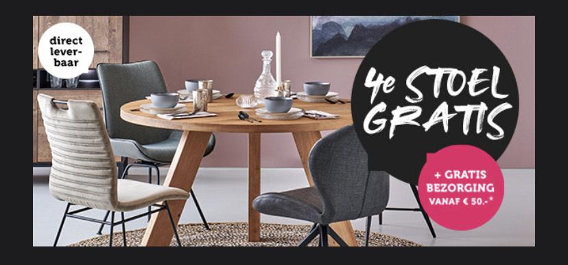 Woonexpress - 4de stoel gratis + gratis verzenden