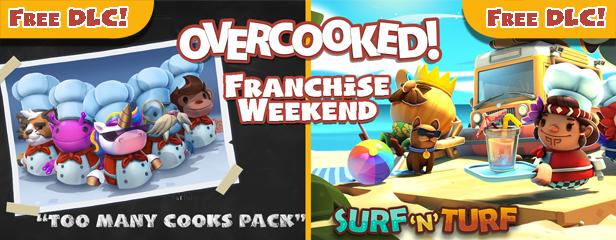 Gratis 2 DLC's te claimen voor Overcooked 2 + Overcooked (2) aanbiedingen @ Steam