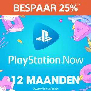 PlayStation™Now: abonnement van 12 maanden tijdelijk met 25% korting @ PSN