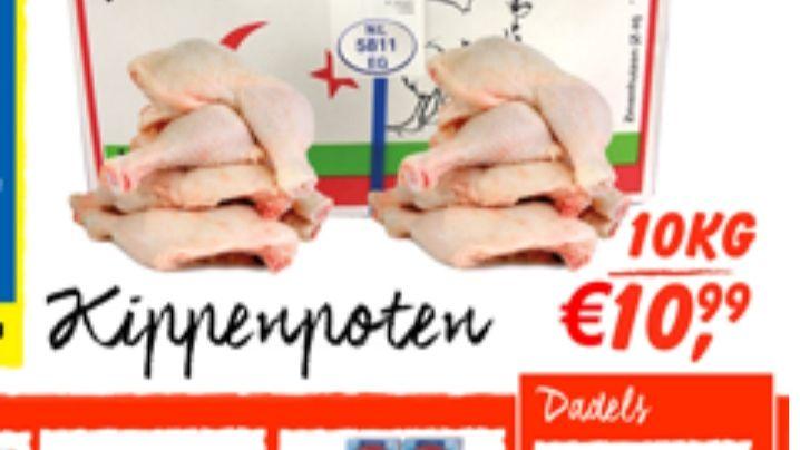 10 kilo kippoten voor €10,99 bij tanger markt