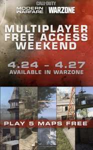 Gratis Call of Duty Modern Warfare Multiplayer (PS4, Xbox One, PC) weekend [24 - 27 april]