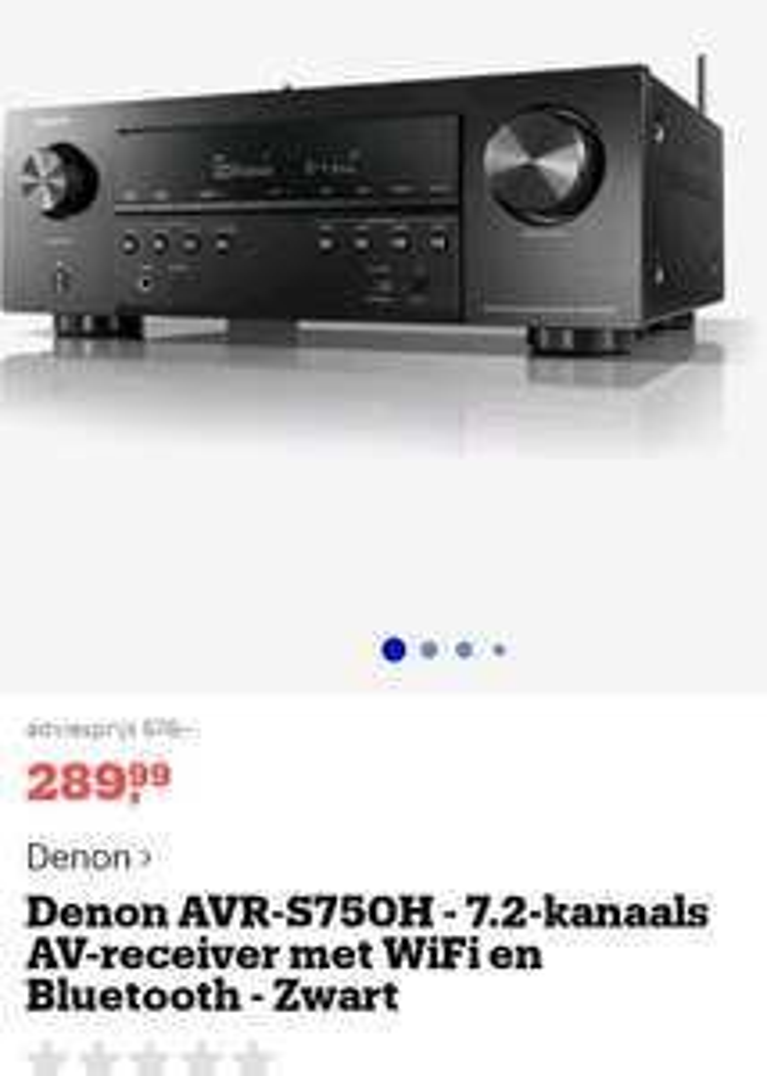 Aangepast DenonAVR-S750H 7.2 digitale AV receiver en versterker.