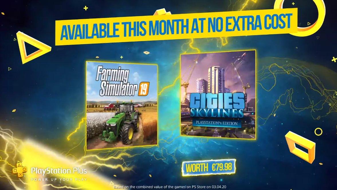 PlayStation Plus games mei 2020: Farming Simulator 19 & Cities: Skylines