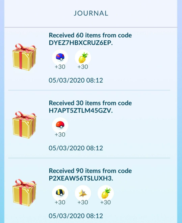 Pokemon GO voor gratis: 60 Pinap berries, 30 Max Revive, 30 Poke balls, 30 Great balls en 30 Ultra balls