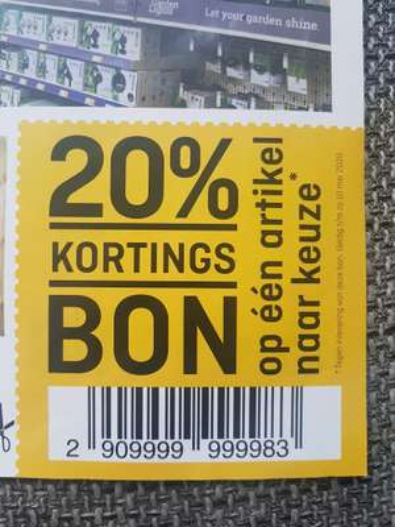 Hubo 20% kortingsbon