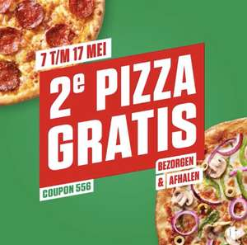 [lokaal] 2e pizza gratis New York Pizza (bezorgen en afhalen)