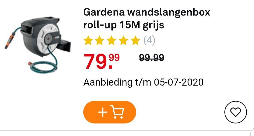 Gardena wandslangbox 15M grijs